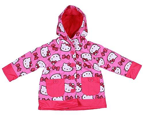 - Western Chief Girls Hello Kitty Two-Pocket Pink Rain Jacket (3T)
