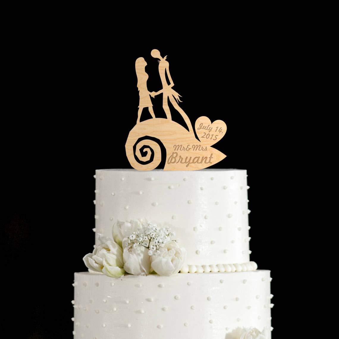 Christmas Wedding Cake Toppers.Nightmare Before Christmas Wedding Cake Toppernightmare
