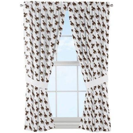NCAA Wyoming Cowboys ''Mascot'' Window Curtain Panels - Set of 2 - 36'' x 48'' by Northwest