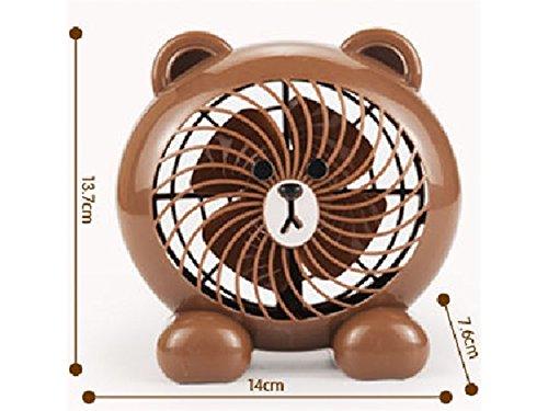 ●日本正規品● Wetietir B07KWYWB6S (ベア/ブラウン) ベッドサイドランプ かわいい漫画のファン 学生寮 ミニファン ミニファン かわいいデスクファン USB充電ファン (ベア/ブラウン) 子供への理想的なギフト B07KWYWB6S, 自転車通販 スマートファクトリー:2b6277cb --- newfinres.com