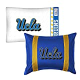 2pc NCAA UCLA Bruins Pillowcase and Pillow Sham Set College Team Logo Bedding Accessories