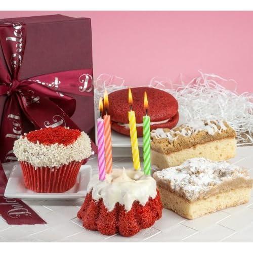 Happy Birthday Gift Basket Red Velvet Collection Fresh Cake Cupcake Crumb