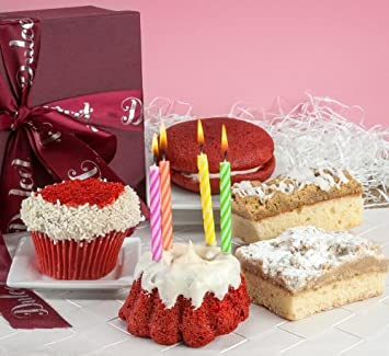 Happy Birthday Gift Basket Red Velvet Collection Fresh Cake Cupcake Crumb