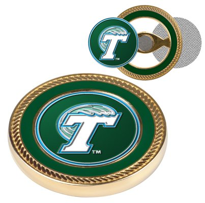 NCAA Tulane University Green Wave - Challenge Coin / 2 Ball Markers