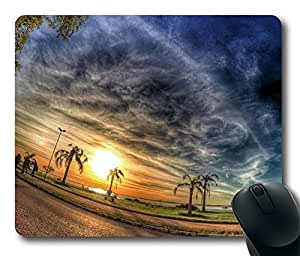 Sunset In My City Cool Comfortable Gaming Mouse Pad