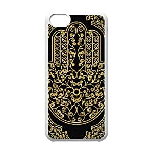 T-TGL(RQ) DIY New Fashional hard phone Case for Iphone 5C custom Hamsa Hand case