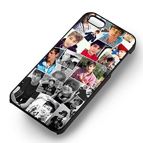 Cool Austin Mahone pour Coque Iphone 6 et Coque Iphone 6s Case (Noir Boîtier en plastique dur) W6N9BE