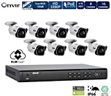 FLIR 1080p PoE Home Security Camera System with 8Ch 2TB NVR and (8) 1080p HD Outdoor Bullet IP Cameras, Night Vision, Vandal-Resistant, Motion Detection, Email Alert (Includes 100ft Cat5e Cable)