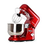 KLARSTEIN Bella Rossa • Stand Mixer • 1200 Watts • 6 HP • 5.5 qt. Capacity • Planetary Stirring Pattern • 6 Working Speeds • Stainless Steel Bowl • Quick-Release Chuck • Multifunctional Arm • Red