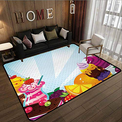 Collection Area Rug,Ice Cream,Super Absorbs Mud,5'10