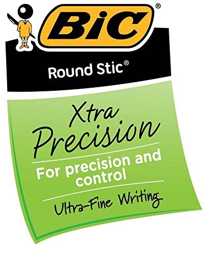 0,8/mm color Black 12 Count punta fina BIC Round Stic bol/ígrafos de punta de bola 0.8 mm