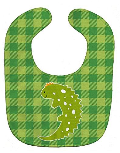 Caroline's Treasures Baby Bib, Green Lizard on Plaid, Large