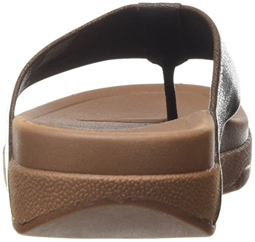 Fitflop Surfer Leather - Sandalias Hombre Marrón (Chocolate Brown)