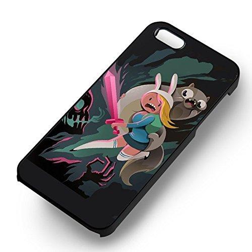 Fionna et Cake pour Coque Iphone 6 et Coque Iphone 6s Case (Noir Boîtier en plastique dur) V5K5DD