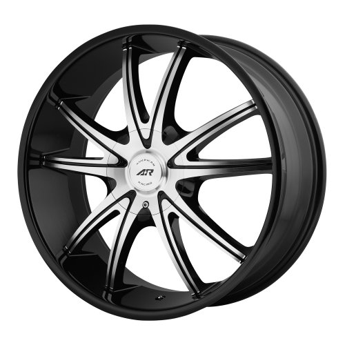 "American Racing Custom Wheels AR897 Gloss Black Wheel With Machined Face (18x8""/5x114.3, 127mm, +38mm offset)"