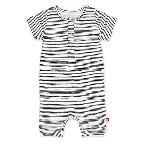 Zutano Organic Henley Bodysuit, Pencil Stripe, 3M