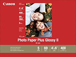 Canon Photo Paper Plus Glossy II, 4 x 6 Inches, 400 Sheets (2311B031)