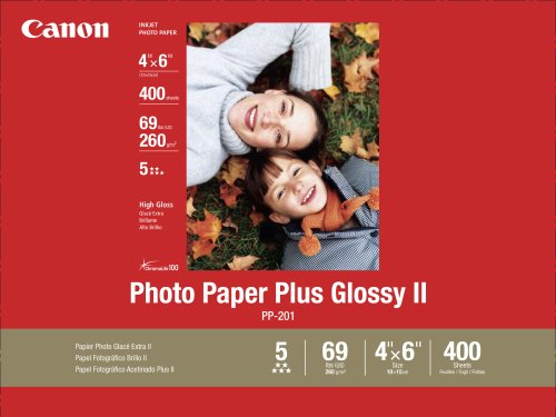 Canon Photo Paper Plus Glossy II, 4 x 6 Inches, 400 Sheets