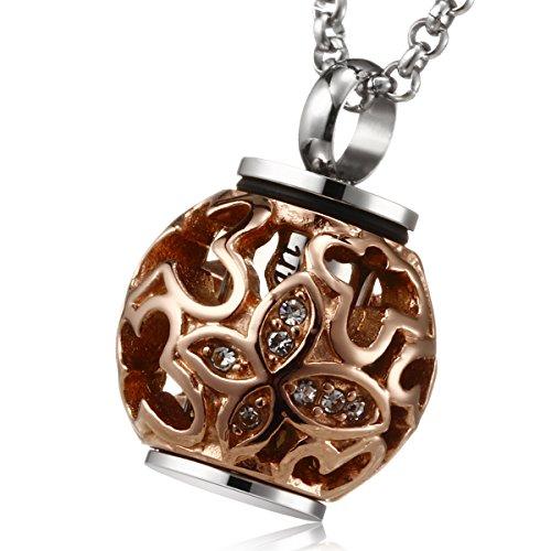 gold ash necklace urn - 7
