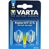 Varta 712Ampoule culot à vis 4,8V 0,7A Lot de 2