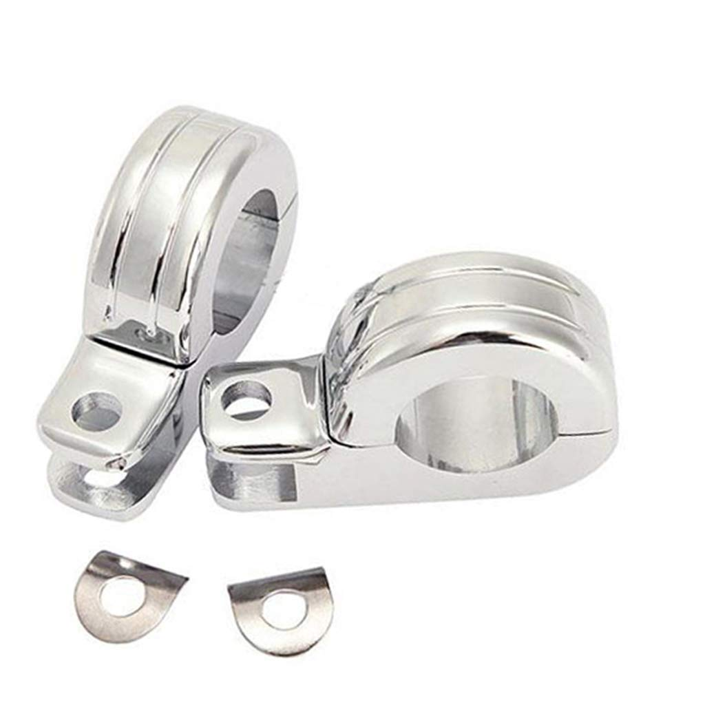 Chrome B Blesiya Motorcycle Foot Peg Clamps Mounts for Harley Touring Engine Guards
