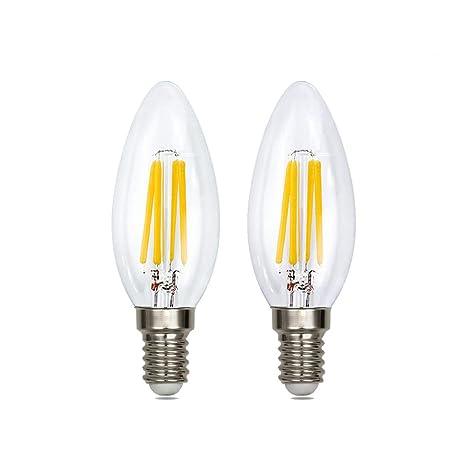 Bombillas LED E14 de 4 W, filamentos de grafeno, equivalente a 40 W,
