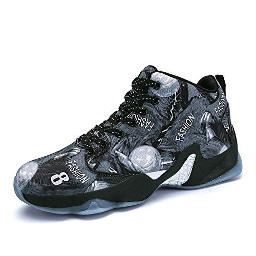 Thirty Kmjbs Résistant Skid eight L'usure Bleu Homme Proof Respirant basketball Chaussures À Haute wRapcXqPR