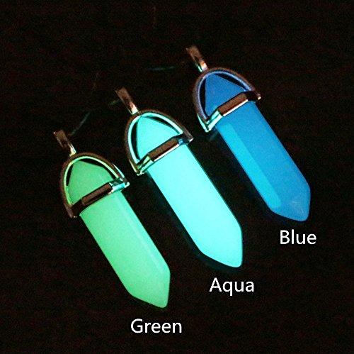 Kida Glow Crystal. Glow in the Dark Crystal Pendant. Atlantis Cosplay Necklace. Glowing Crystal Point Necklace. Glow in Dark Crystal Point Pendant Necklace