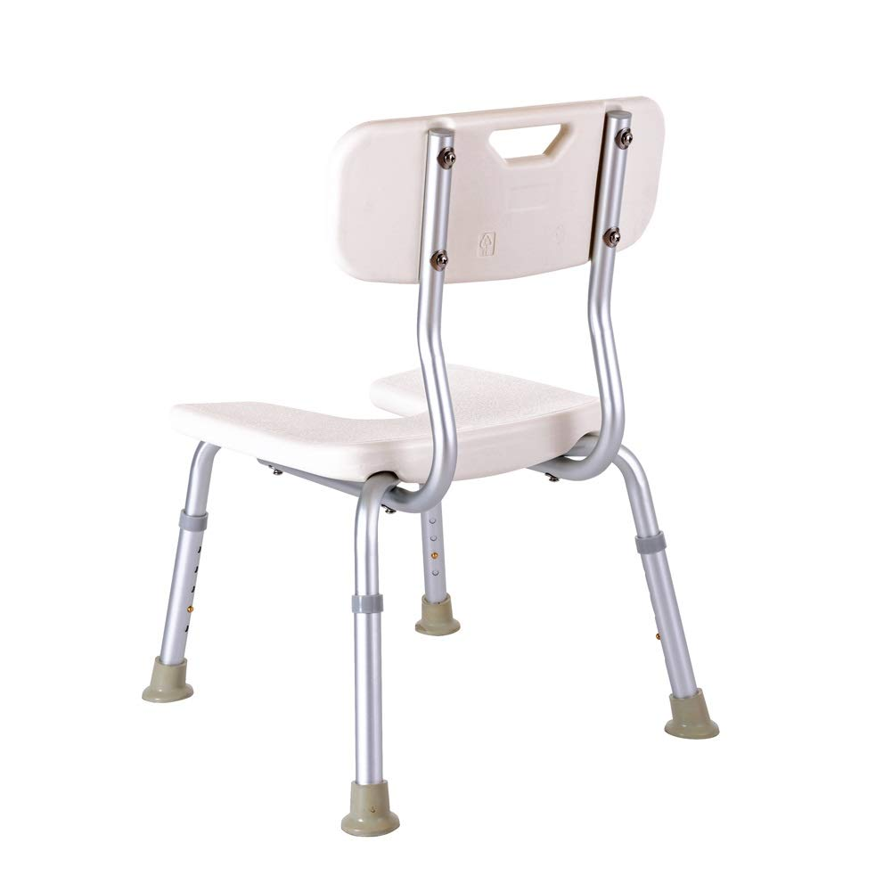 BEAUTY--shower stool Anti-Slip Shower Chair for The Elderly/Pregnant Women/Disabled,Bath Assist Seat with Backrest,Adjustable Height by BEAUTY--shower stool
