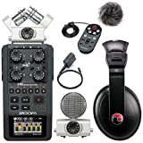 zoom remote - Zoom H6 Six-Track Portable Recorder w/ Accessory Pack & Resident Audio R100 Headphones - Bundle