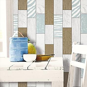 BTJC Trendige Bar Wohnzimmer Holz Backstein Muster Steinstruktur Box Tapete Kche Bad Wasserdicht PVC