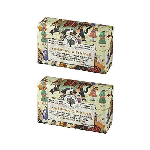 Cheap Wavertree & London Sandalwood & Patchouli Luxury Soap, 7 Oz (Pack of 2)
