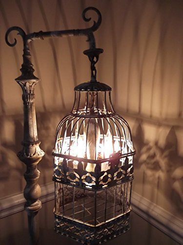 Vintage Chandelier Bird Cage Floor Lamp