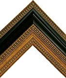 Large Vintage Ornate Black and Gold Wooden Picture Frame (20x24 Inch)