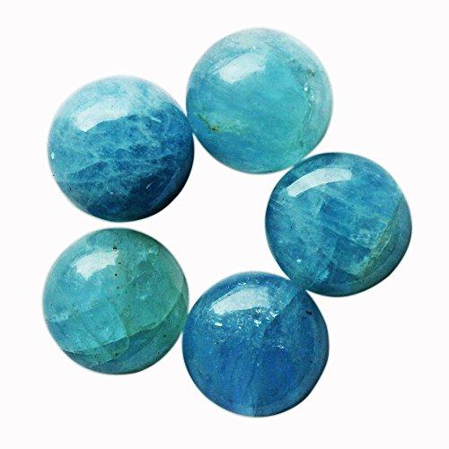Brazil Aquamarine Blue (18 MM Round Shape, Beautiful Blue Aquamarine Cabochon, Natural Gemstone, Wholesale Gemstone, Jewelry Making Stone,)