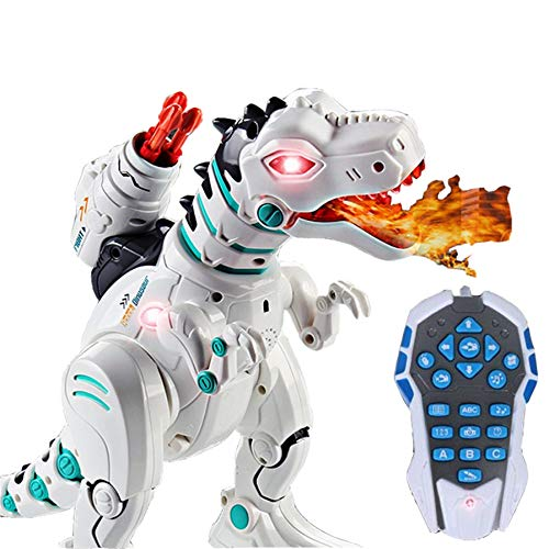 Jack Royal RC Robot Dinosaurs T-Rex Dinobot Toy, Robot Dinosaur Remote Control Toys for Kids - Multicolor
