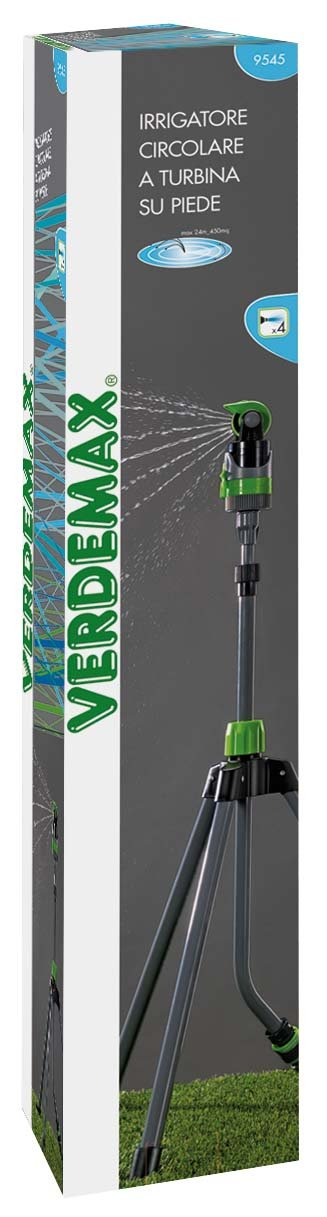 Verdemax 9545/4/Jets Gear Drive Arroseur avec tr/épied
