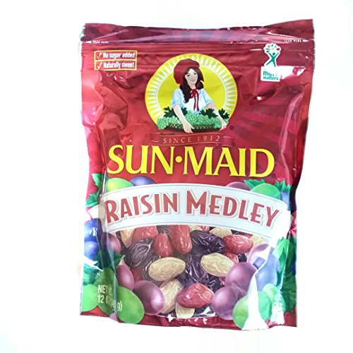 Sun Maid Raisin Medley 12 Ounce (5Pack) by Sunmaid