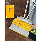 Broom with Comb Teeth,Upright Sweep Set with The Extendable Poles, Clean for Home Kitchen Room Office Lobby Floor,1