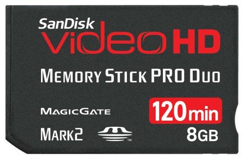 SanDisk SDMSPDHV-008G-A15 8GB Video HD MSPD Memory (Mspd Card)