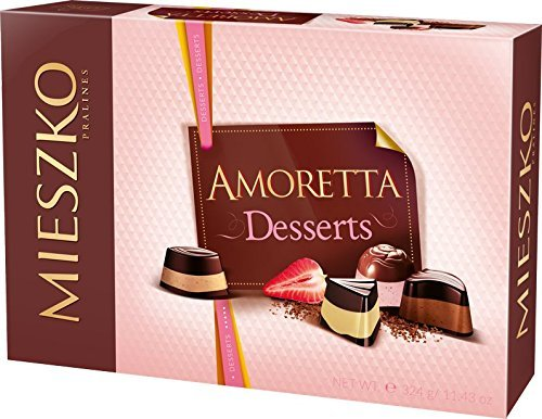 Mieszko Amoretta Desserts Mix of Chocolate Pralines in 6 Flavours, 295g/10.4oz