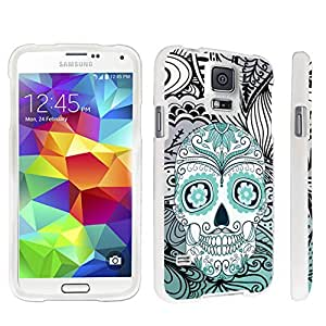 DuroCase ? Samsung Galaxy S5 Hard Case White - (Day of the Dead Skull)