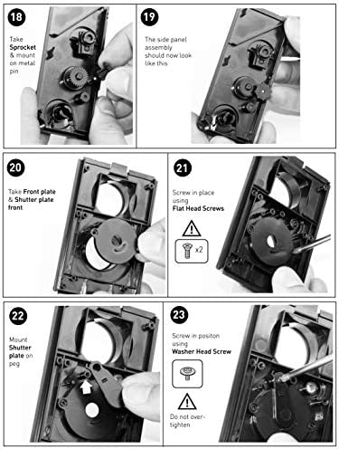 DEVMO DIY Lightnes Classic Retro Holga Lomo Recesky TLR Camera 35mm Film Twin Lens Reflex Kit 51Z4 KhGnhL