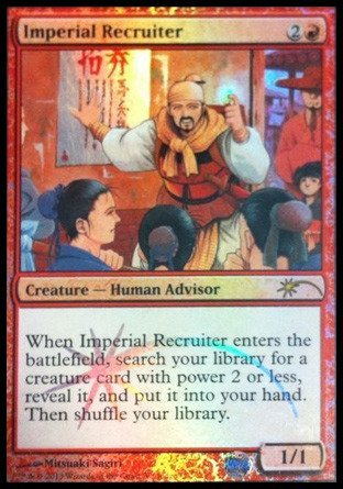saludable Magic  the Gathering - Imperial Recruiter Recruiter Recruiter - Foil DCI Judge Promo (3) - Judge Promos - Foil by Magic  the Gathering  punto de venta
