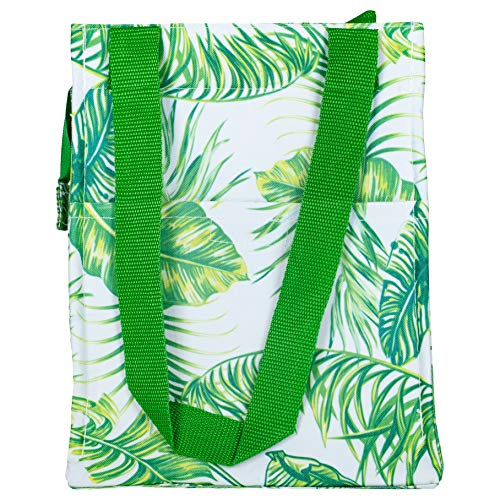 Insulated Palm Tree Leaves 12 x 9 Microfiber Fabric Reusable Lunch ()