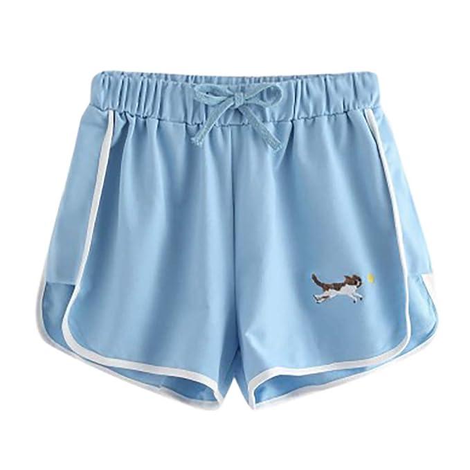 Amazon.com: Pantalones cortos para mujer de poliéster con ...