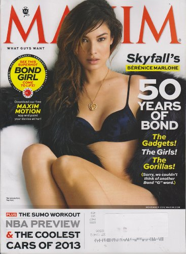 Maxim November 2012 Skyfall's Berenice Marlohe (50 Years of Bond) (James Girls Bond)