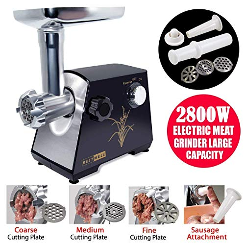 YUMUN 2800 Watt Electric Meat Grinder, Stainless Steel Meat Mincer &...
