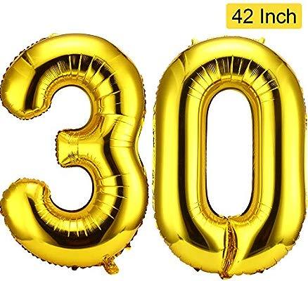 30 Números Globos de 42 Pulgadas Globos Gigantes de Papel de ...