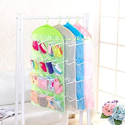homeself Closet vinilo transparente 16 sujetador ropa interior calcetines corbatas organizador de colgar